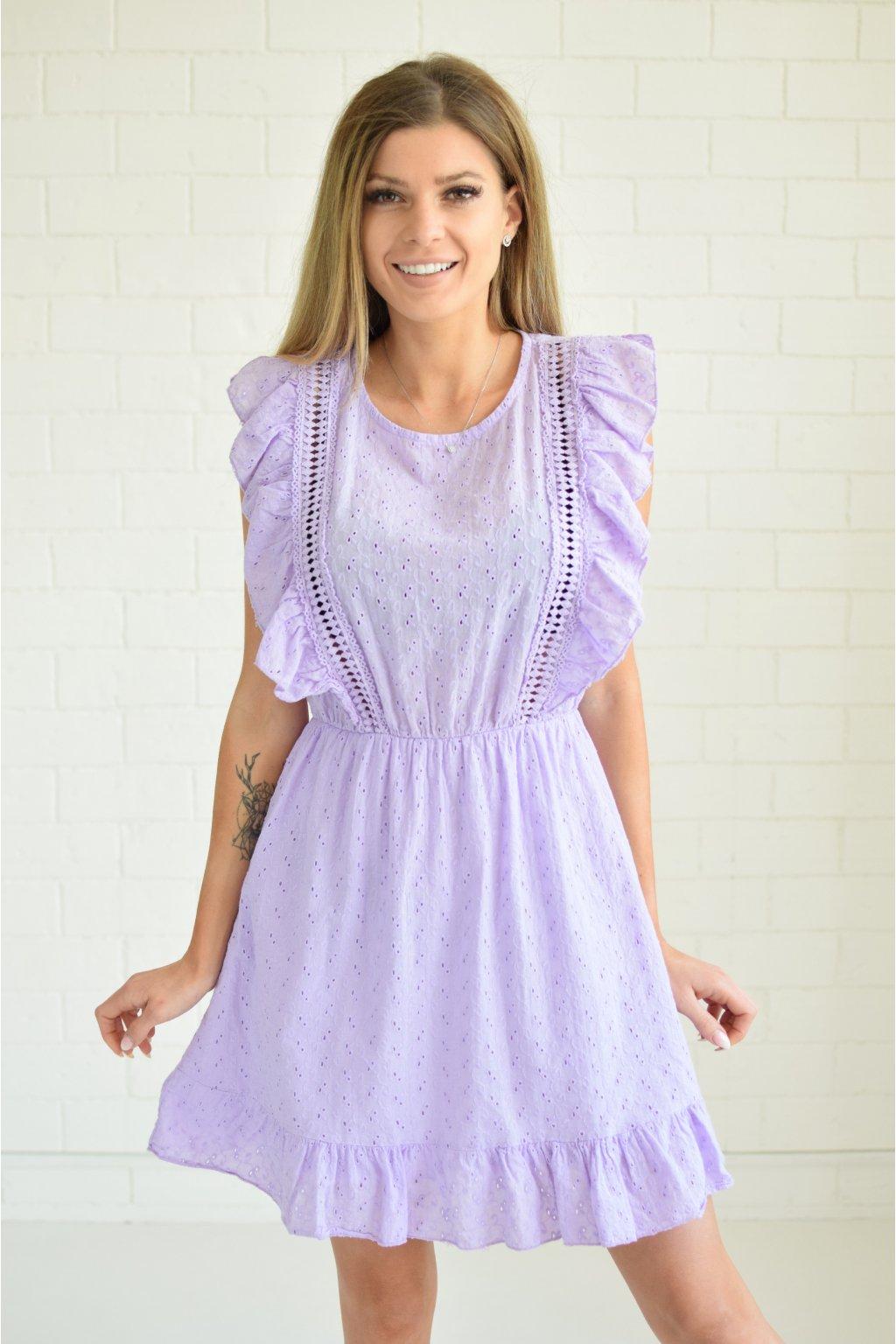 Fialové šaty TRALEE