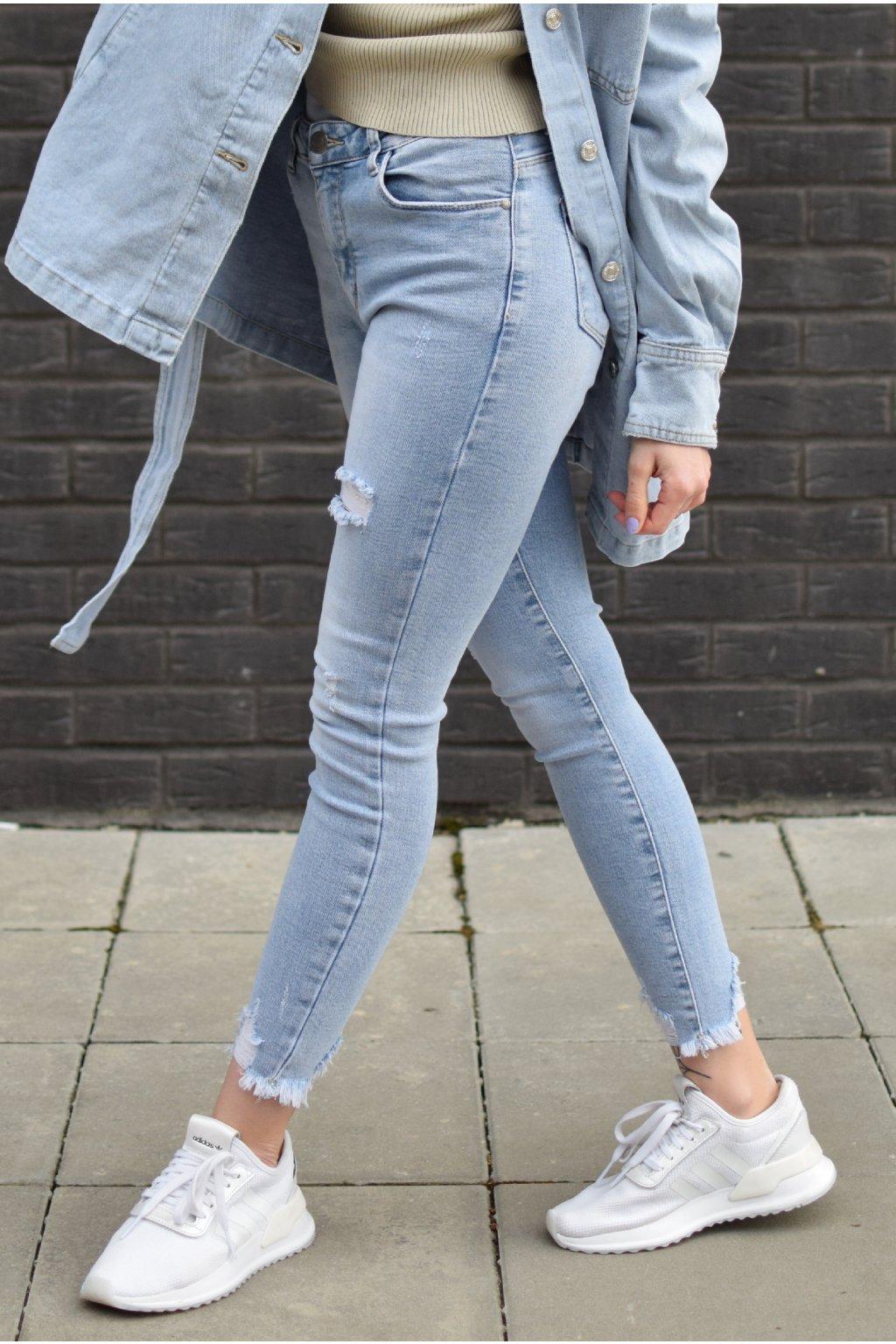 Světle modré džíny ESTELLA