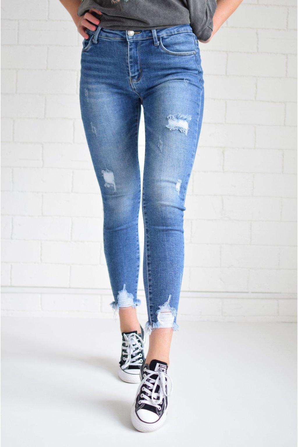 Tmavě modré džíny ESTELLA