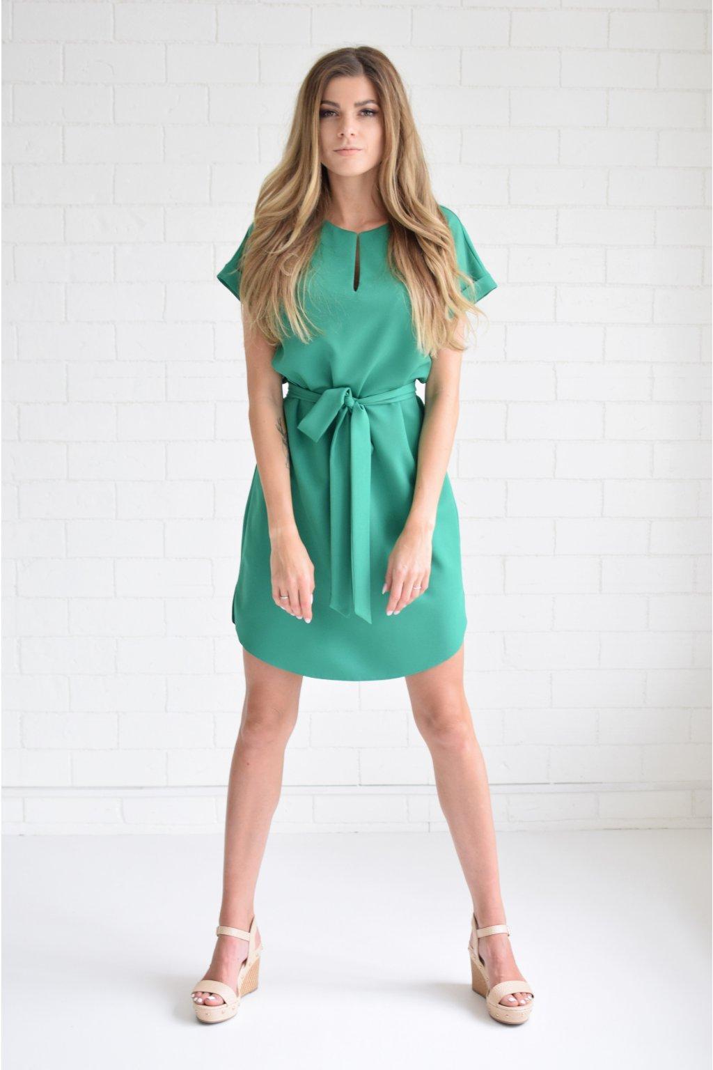 Zelené šaty KLARA
