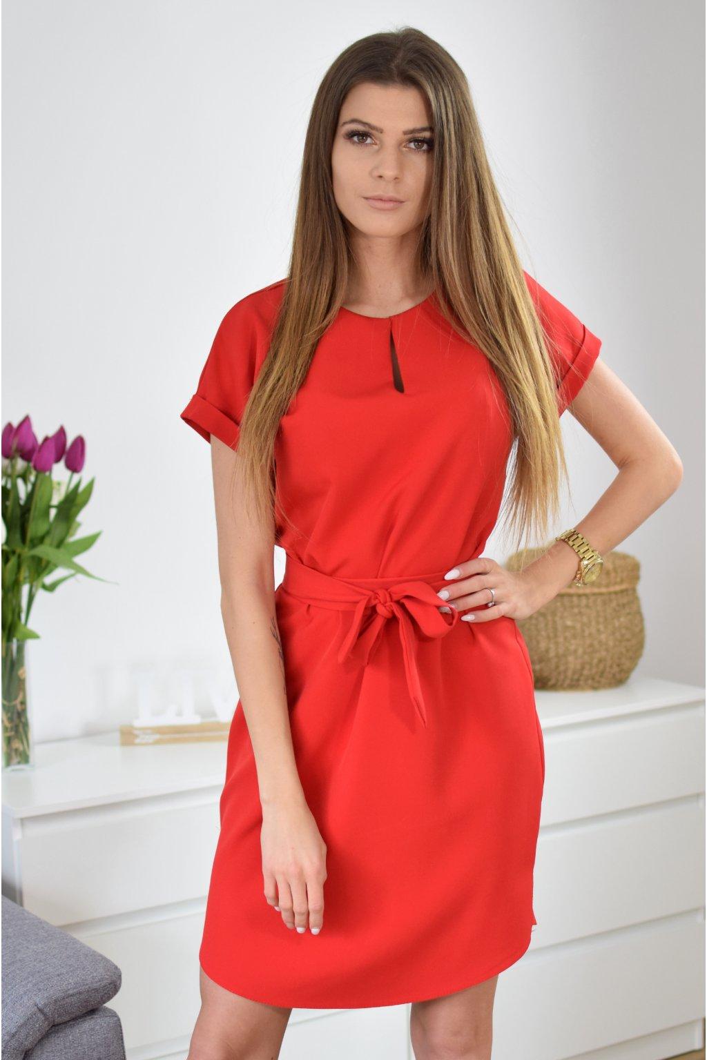 Červené šaty KLARA
