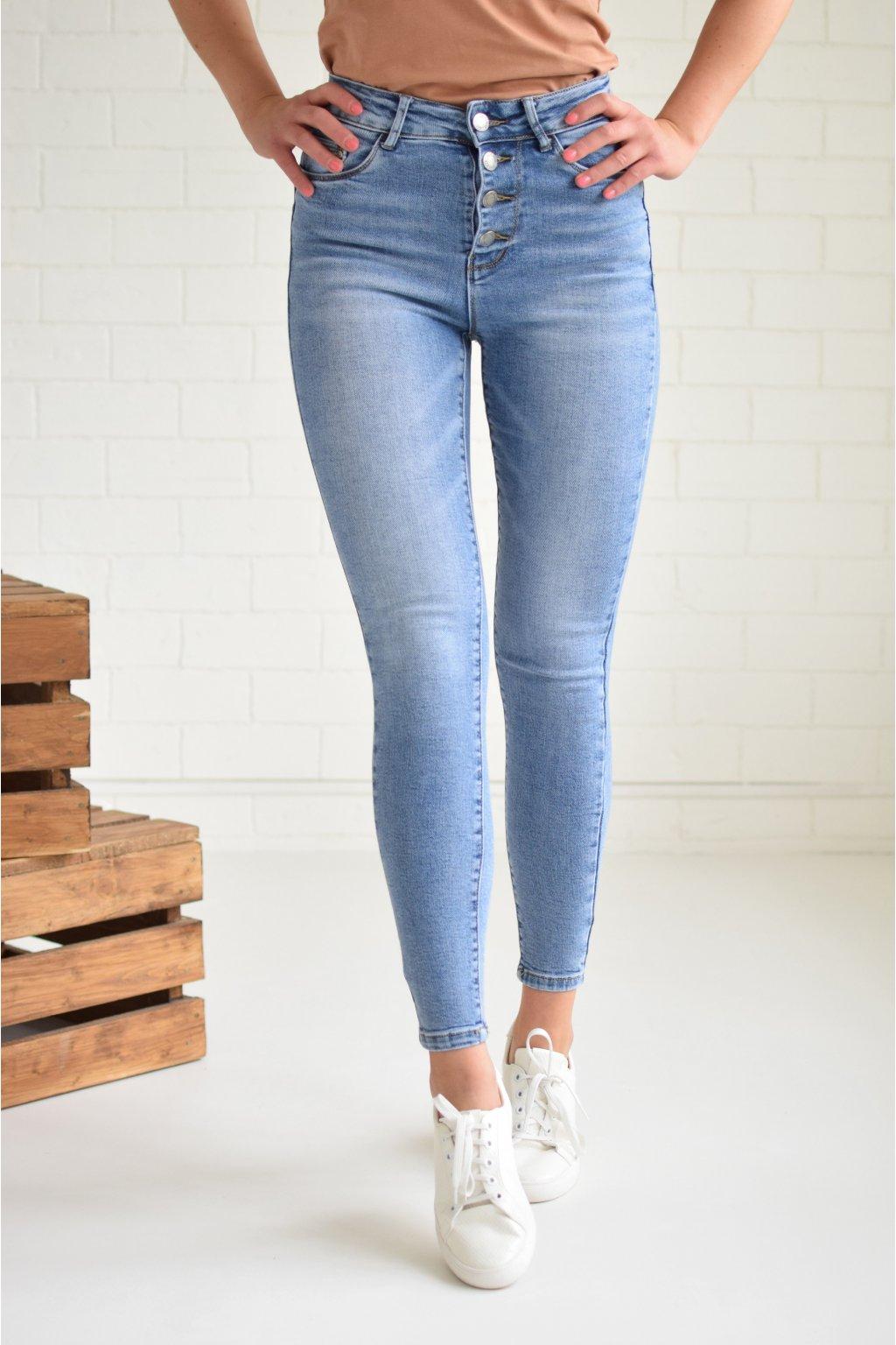 Světle modré džíny JENNIFER
