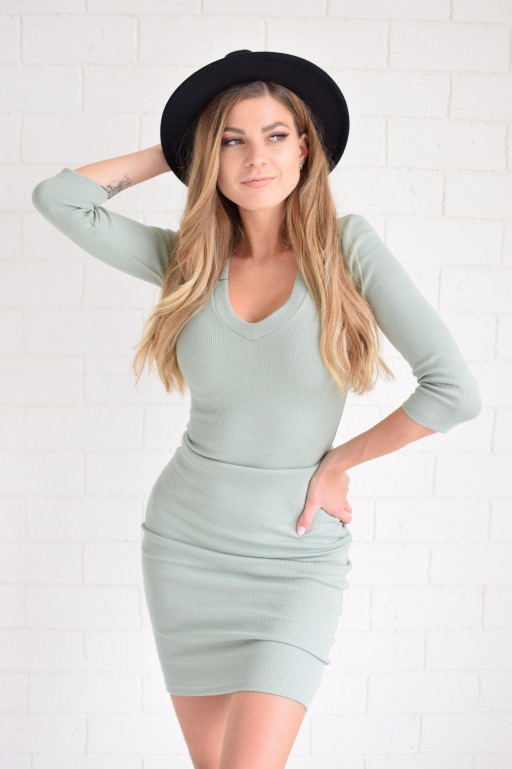 Zelené šaty LILA véčko