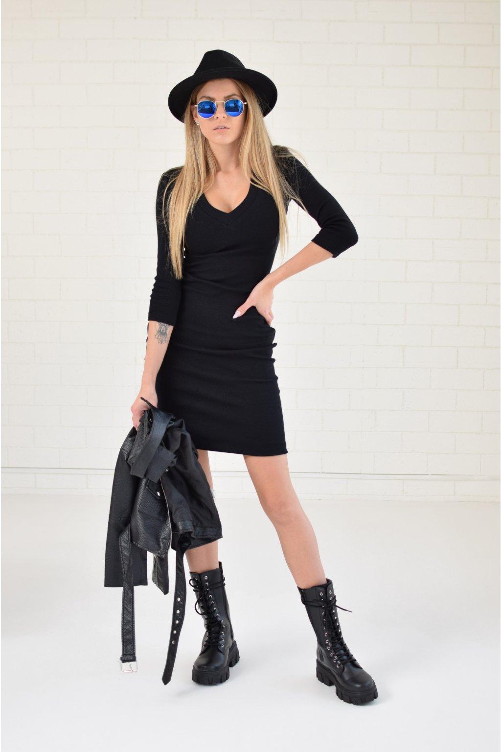Černé šaty LILA véčko