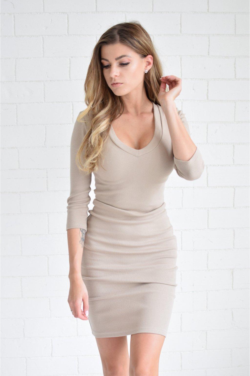 Béžové šaty LILA véčko