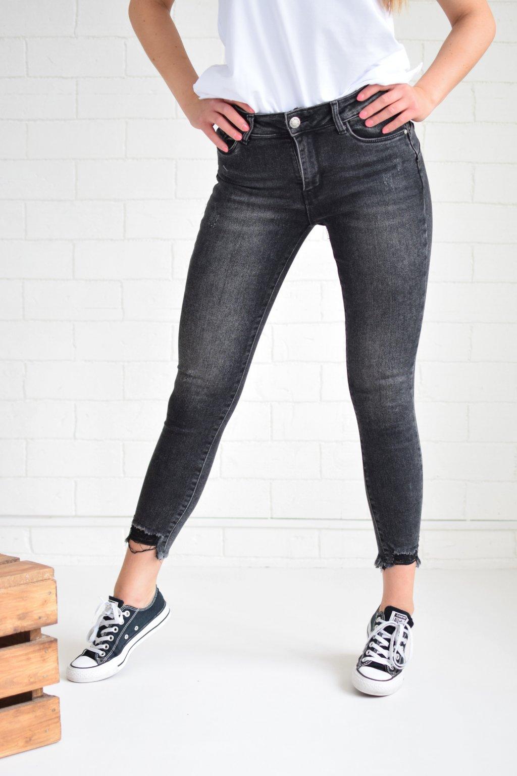 Tmavě šedé džíny CATRINA