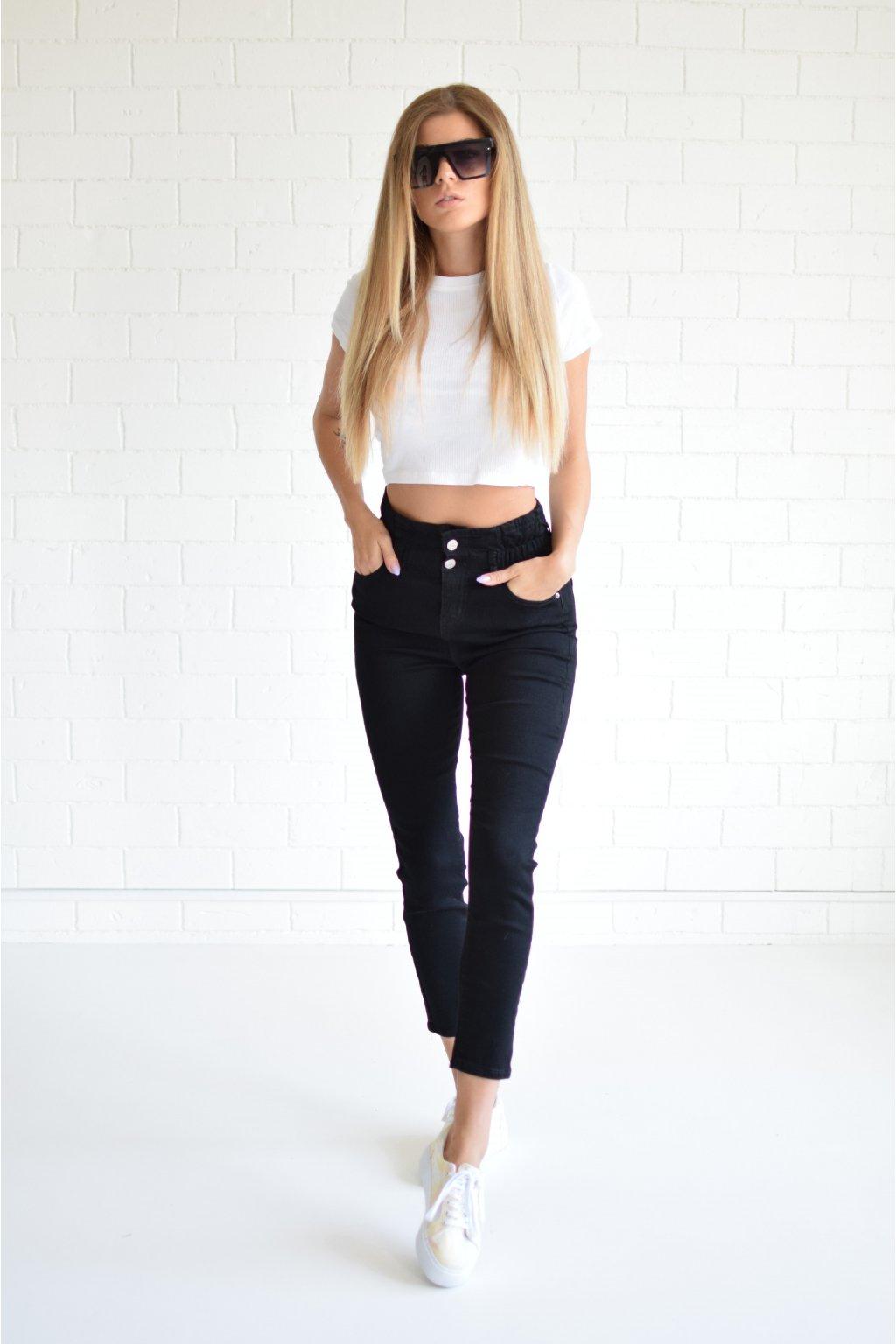 Černé džíny WENDY