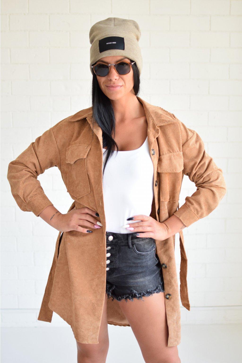 Manšesterový košilový kabátek EMELY