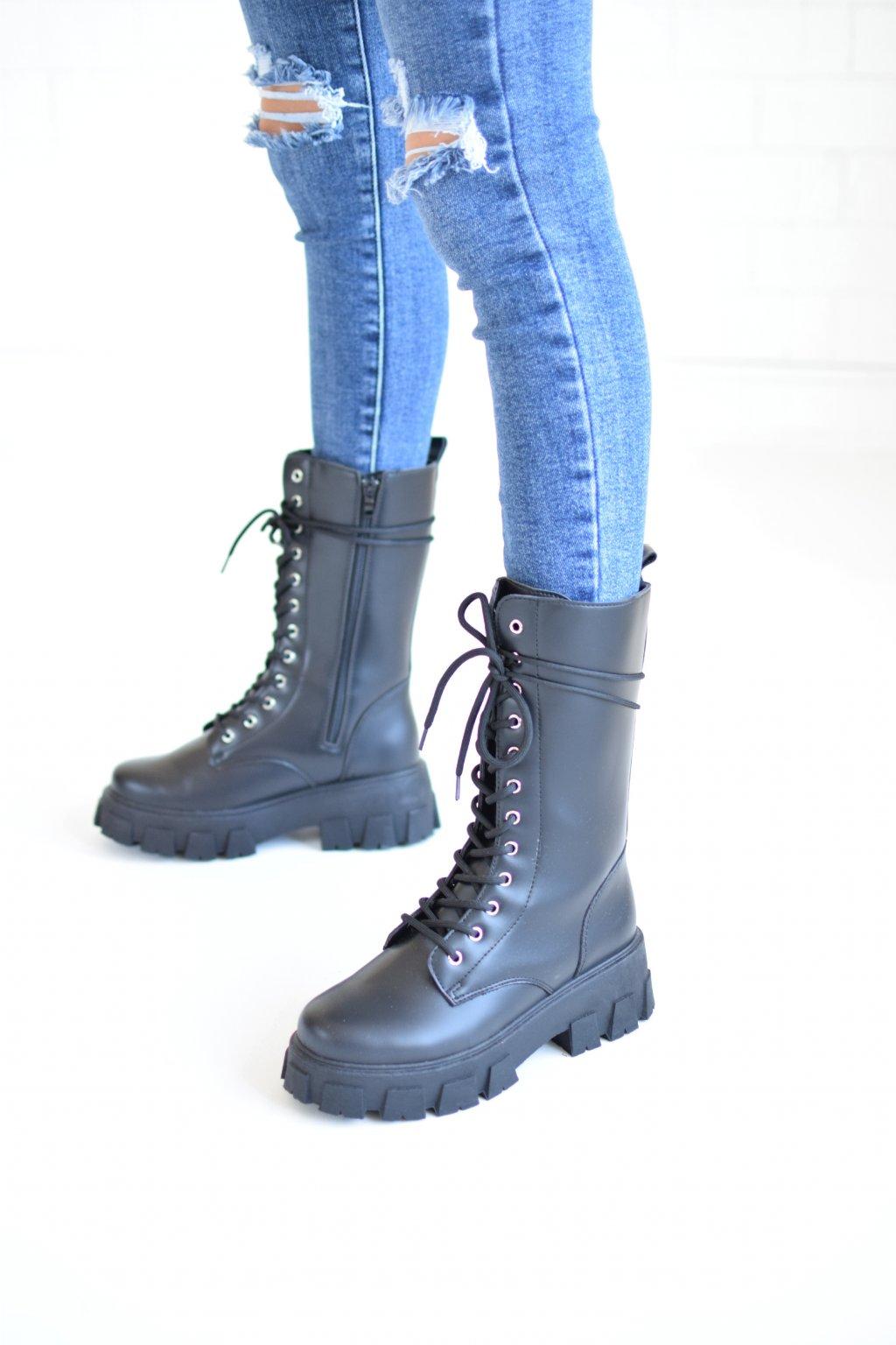 Černé boty ANNY