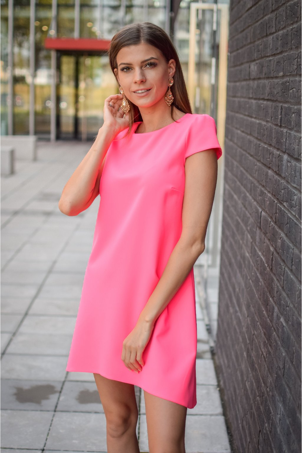 Neonově růžové šaty PHOENIX