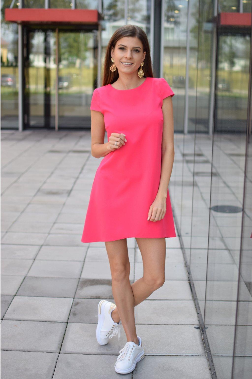 Růžové šaty PHOENIX