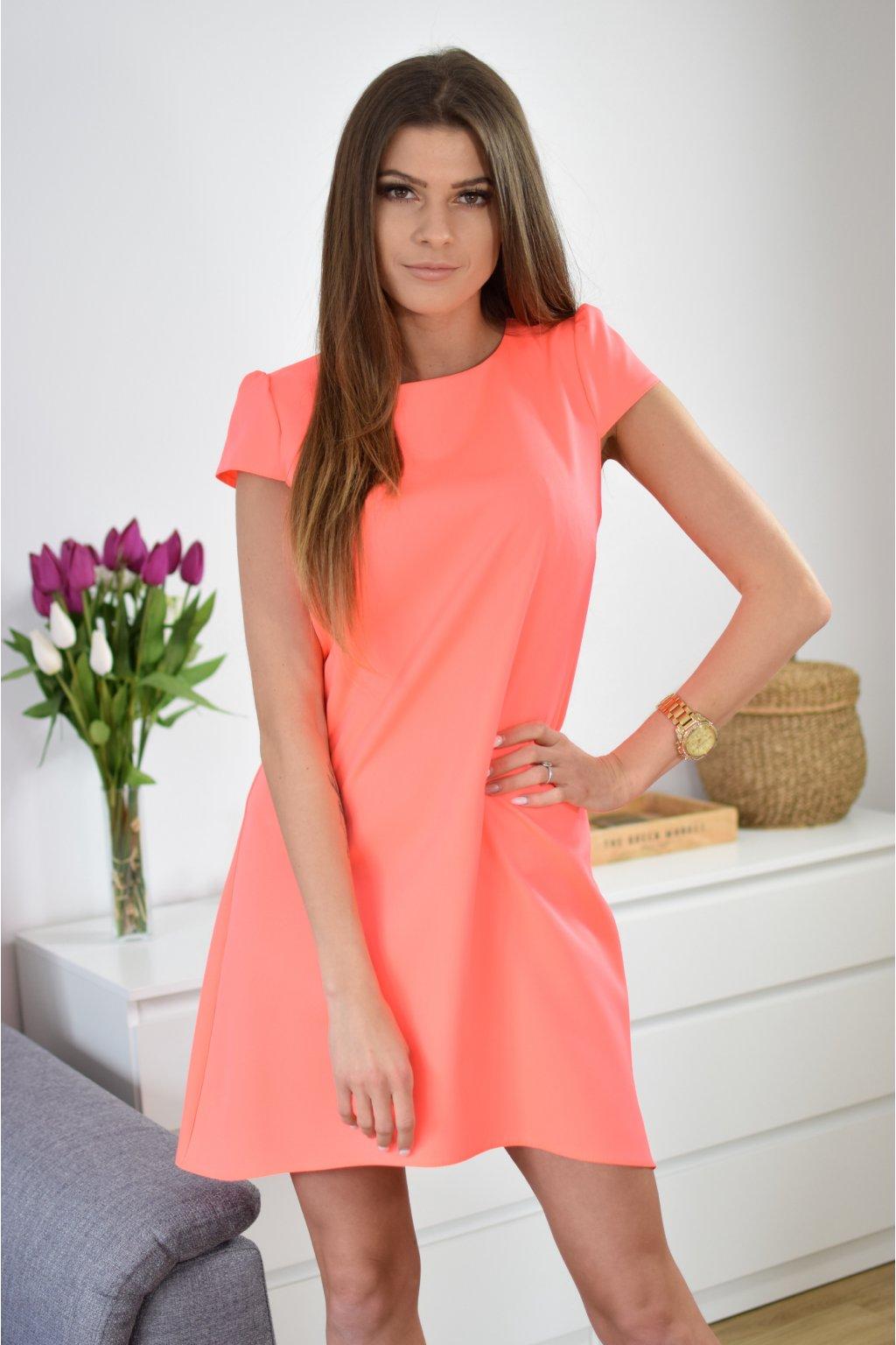 Lososové šaty PHOENIX