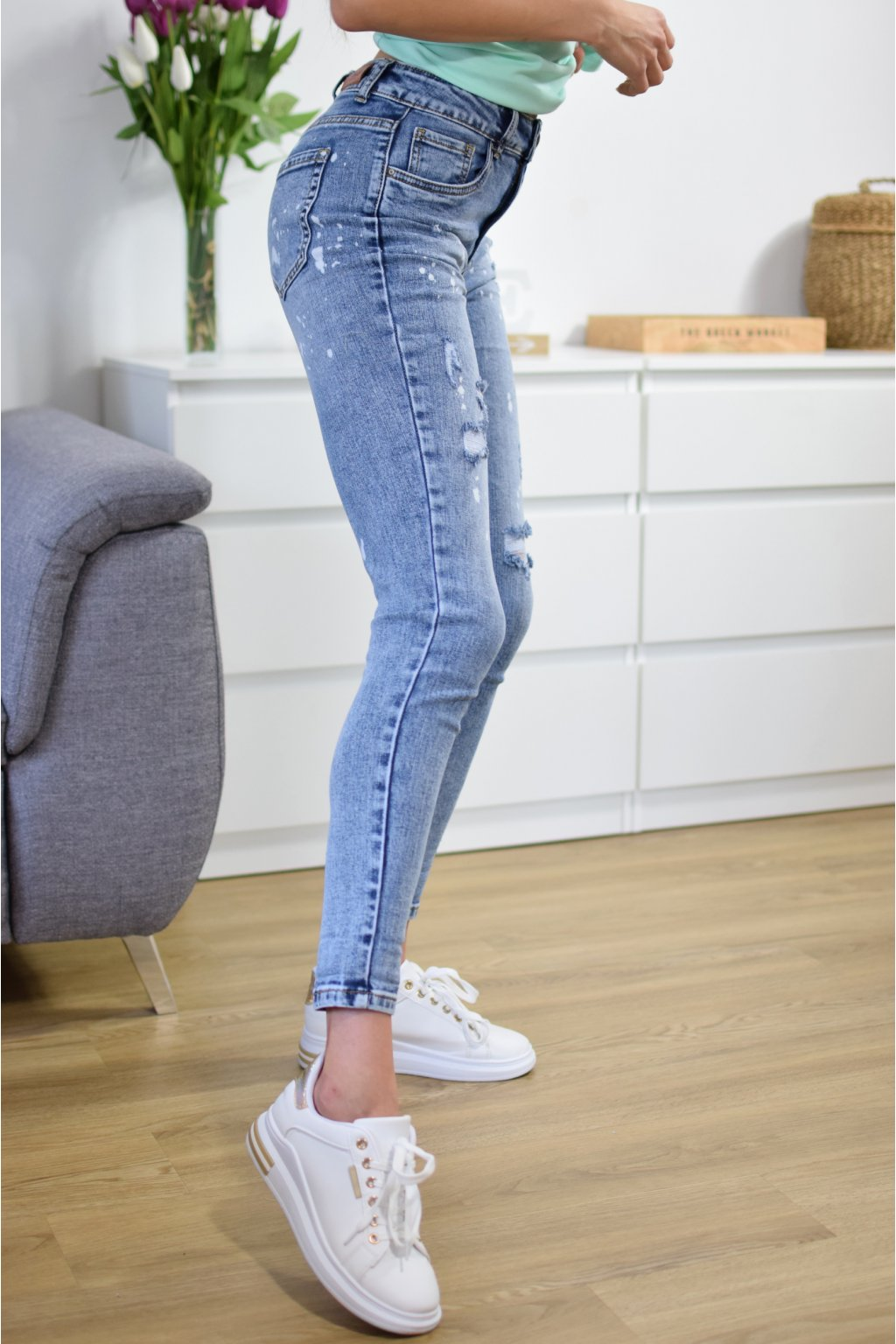 Modré džíny QUEBEC