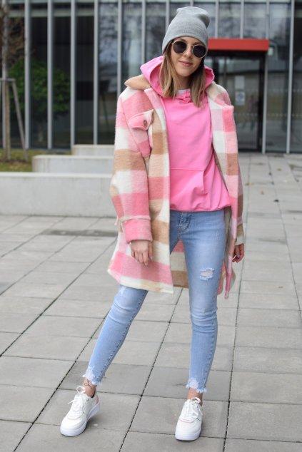 Růžový kabát TINA