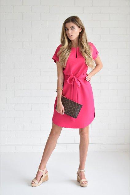 Růžové šaty KLARA