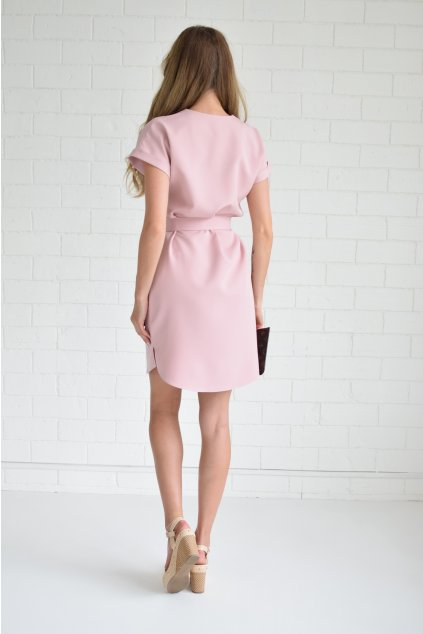 Pudrové šaty KLARA