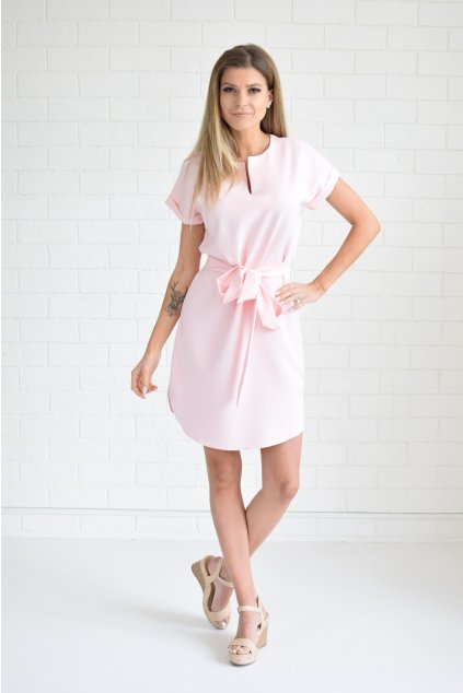 Světle růžové šaty KLARA