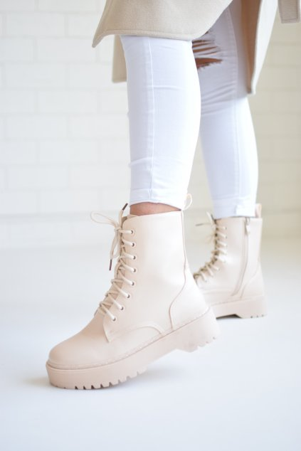 Béžové boty DORIS