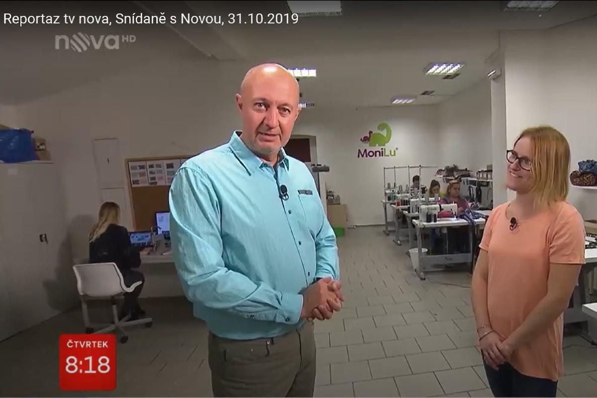 Reportáž TV Nova - Snídaně s Novou - MoniLu