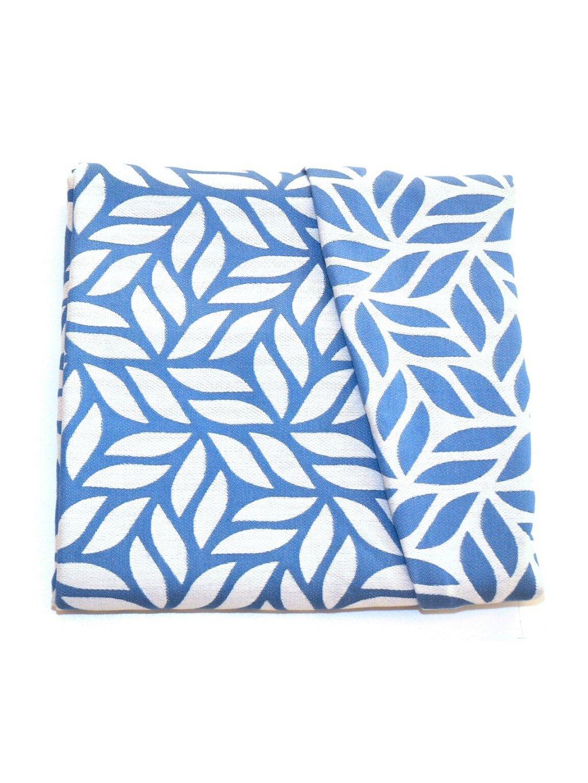 Šátek na nošení dětí MoniLu Leaves Blue