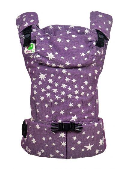 Nosítko MoniLu UNI START Plum Stars