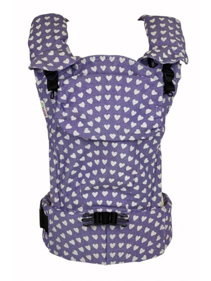 Baby Carrier MoniLu UNI START Hearts Viola