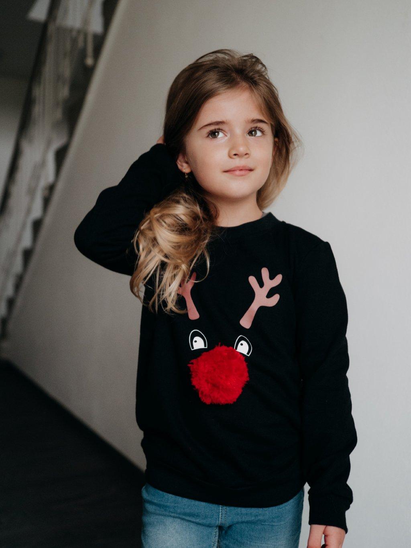 Dětská mikina Merry & Bright černá