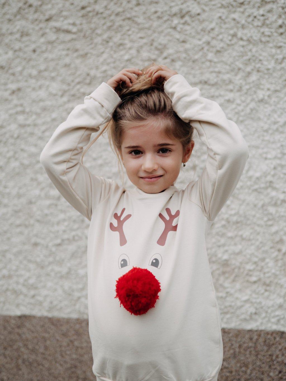 Dětská mikina Merry & Bright smetanová