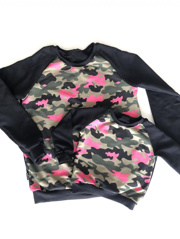 Maskáčová mikina CAMO pink