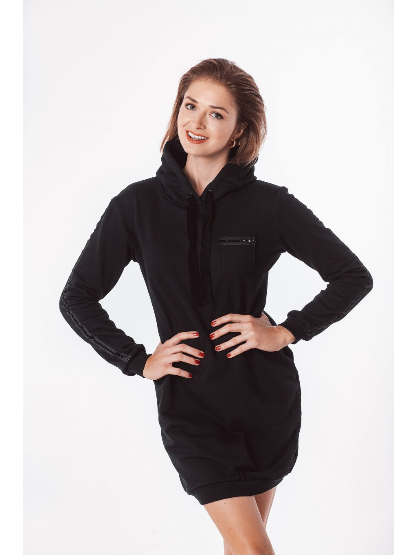 Dámské mikinové šaty black velvet