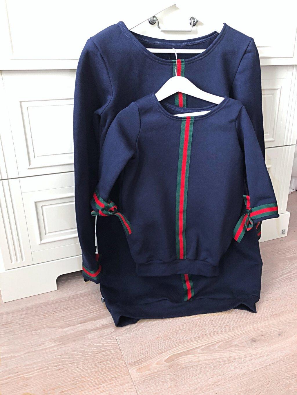 Dámské mikinové šaty navy STAR