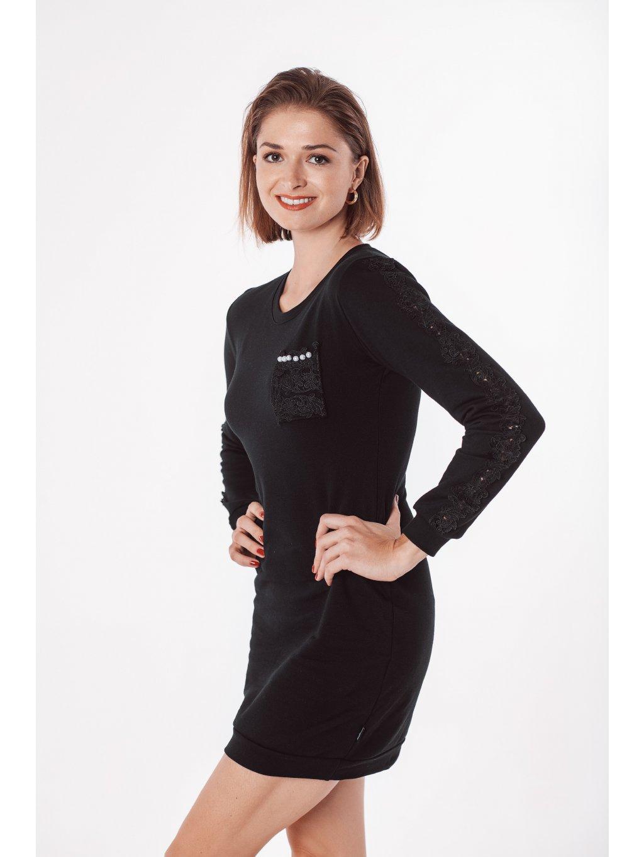 Dámské mikinové šaty BLACK PEARL