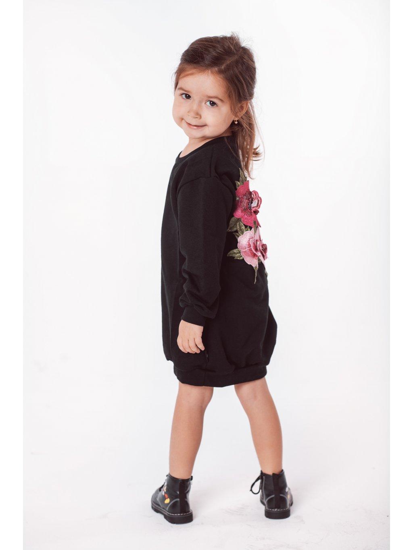 Dětské mikinové šaty FLORA