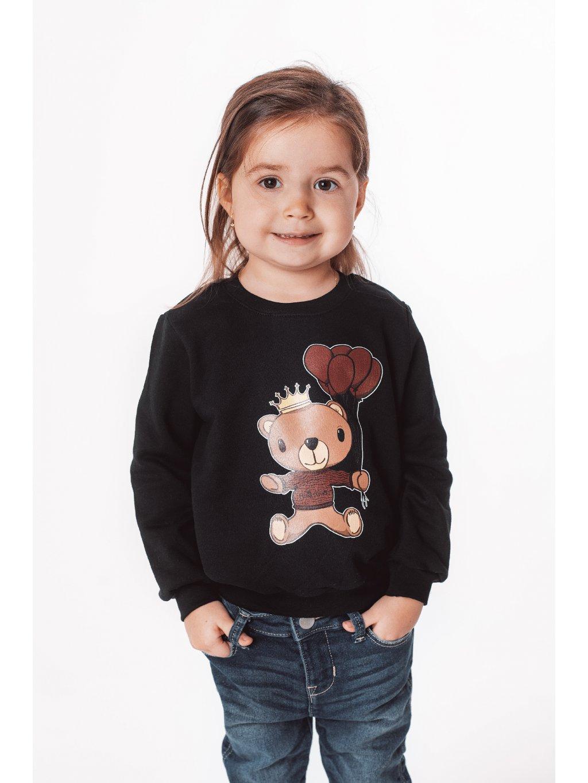 Dětská mikina s potiskem TEDDY černá