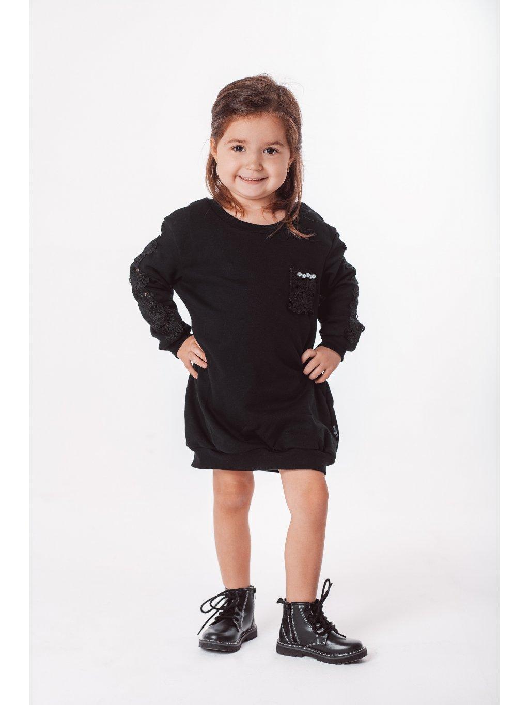 Dětské mikinové šaty BLACK PEARL