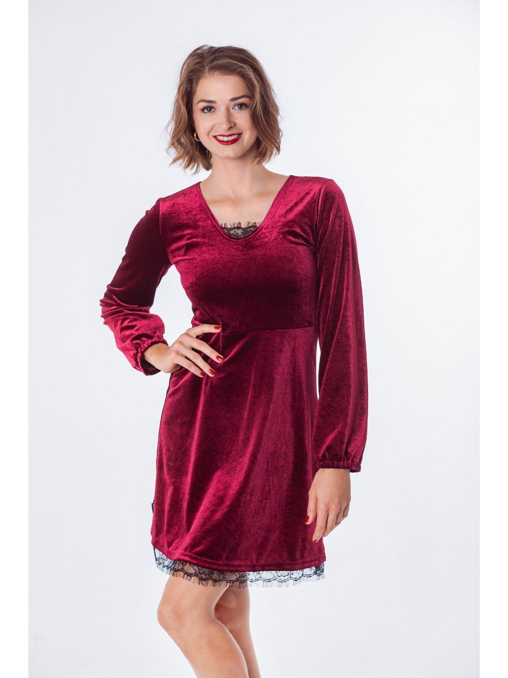 Dámské sametové šaty RED VELVET