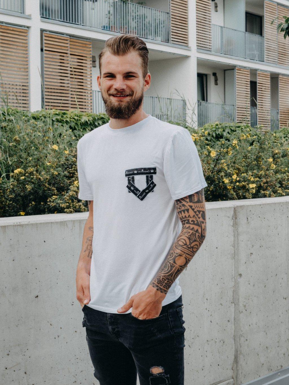 Pánské basic tričko s falešnou kapsou