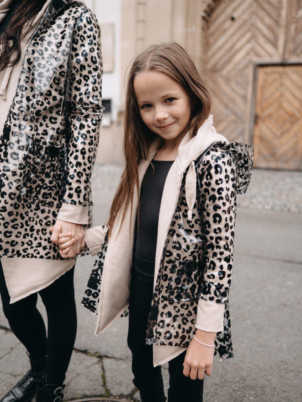 Dětská leopardí pláštěnka