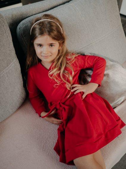 Dětské šaty Merry červené