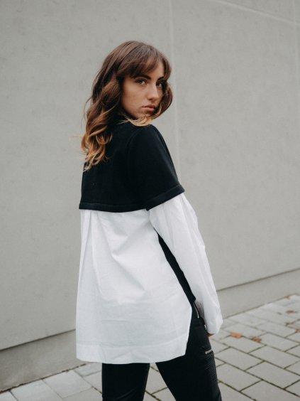 Dámská mikino-košile černá