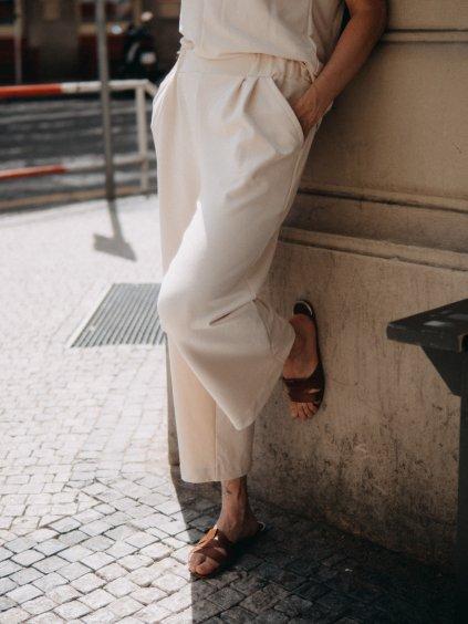 Kalhoty CULOTTE ECRU
