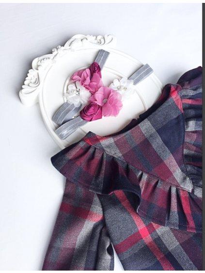 Dětské kostičkované šaty Izabel