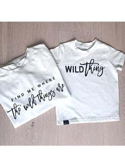 Dětské tričko s krátkým rukávem WILD THING bílé