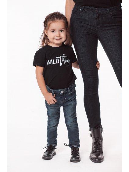 Dětské tričko s krátkým rukávem WILD THING černé