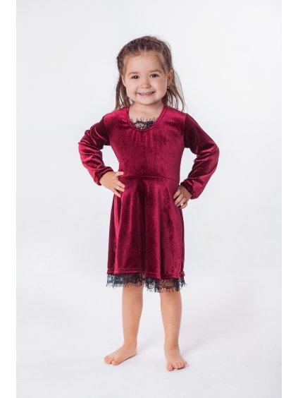 Dětské sametové šaty RED VELVET