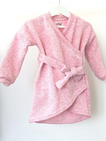Dětské pletené šaty DOLL světle růžové
