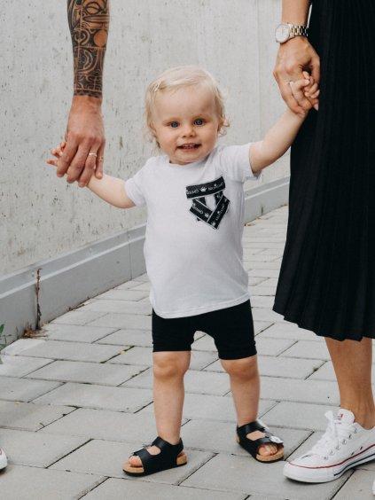 Dětské basic tričko s falešnou kapsou