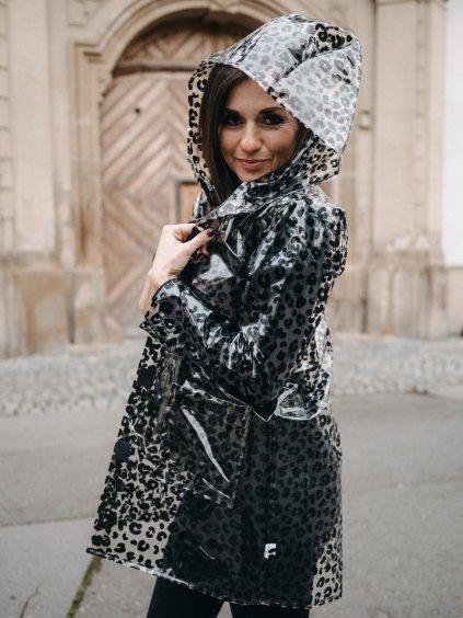 Dámská leopardí pláštěnka