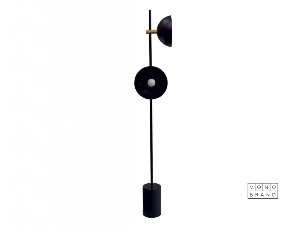STUDIO LAMP SERIES FLOOR (Barva - varianty Černá, Materiályy Ocel s mosazem)