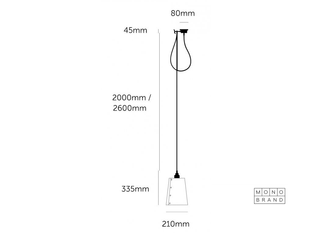 HOOKED 1.0 large graphite shade with brass details